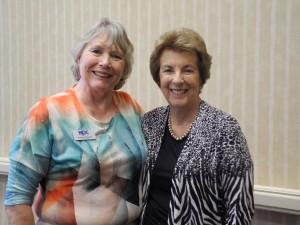President Carole Greene and Mimi Gregory Photo ⓒcopyright HeleneGailletArtist.com