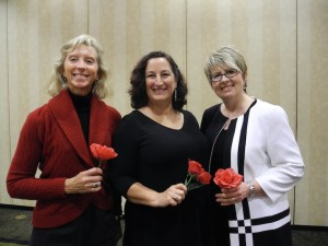 New members, left to right : Julie Pedretti, Laura Spell and Cheryl Lampard